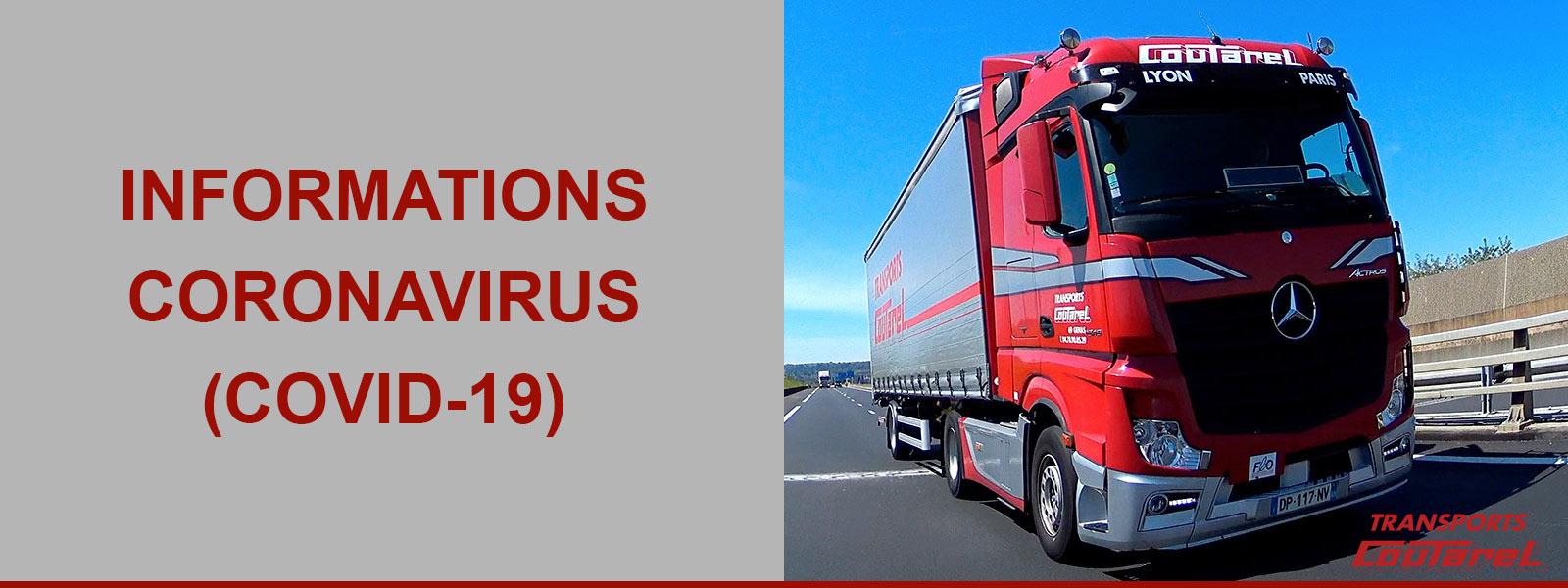 Covid-19: notre activité de transport routier est maintenu
