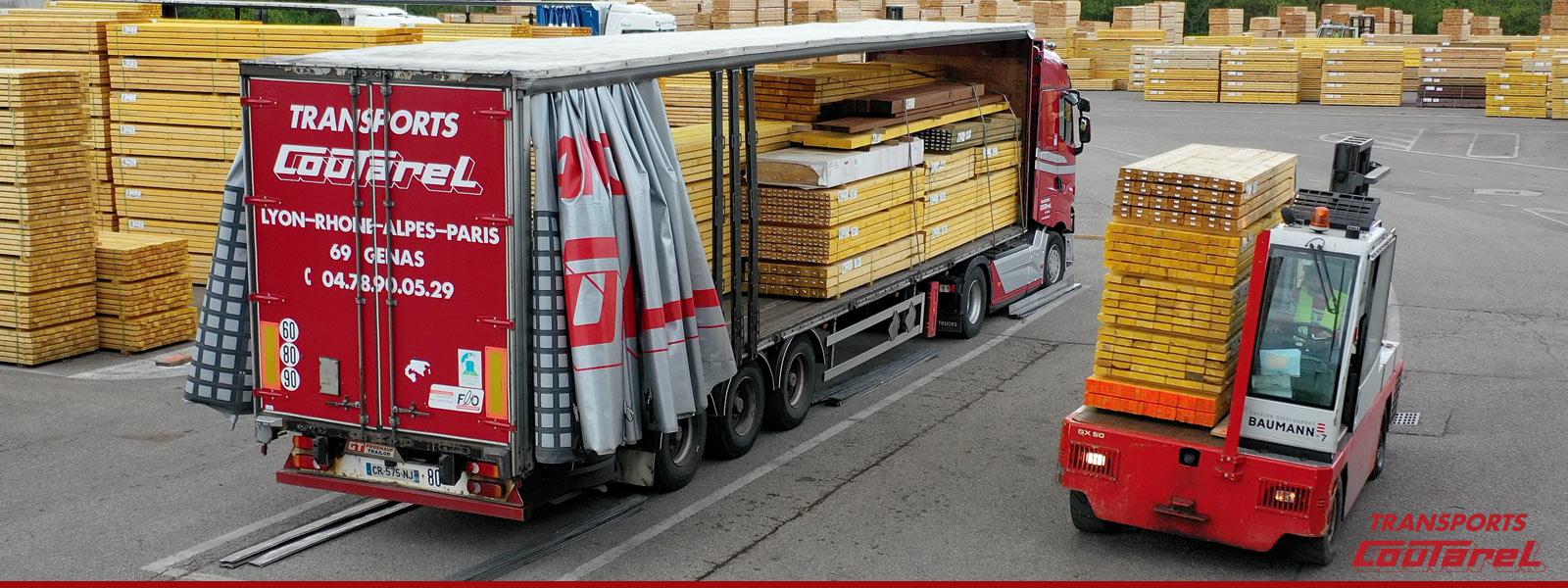 Transport de matériaux grande longueur en Auvergne Rhône-Alpes