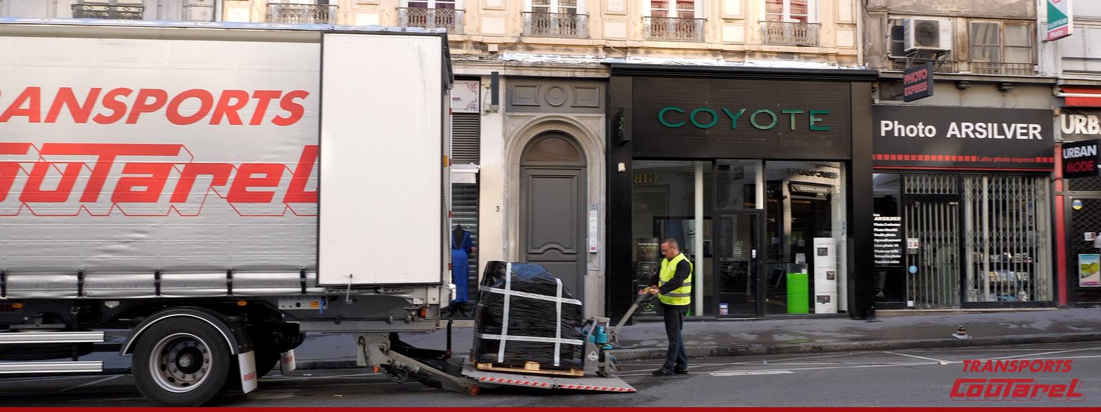 Distribution urbaine de marchandises à Lyon (69)
